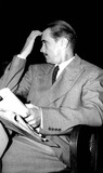 Howard Hughes Photo - Howard Hughes Awaiting His Turn on the Stand Before the Senate War Investigating Committee 1181947 Supplied by Globe Photos Inc Howardhughesretro