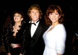 Andy Gibb Photo - Victoria Principal with Andy Gibb and Sheena Easton 1982 12018 Photo by Phil Roach-ipol-Globe Photos Inc