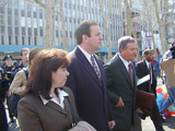 Charles Schwarz Photo - Charles Schwarz Leaving Brooklyn Federal Courthouse with Wife Andra and Lawyers 4302 Photo Bruce Cotler K24716bco Photo by Bruce CotlerGlobe Photos Inc